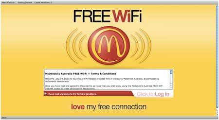 mc donalds free wifi